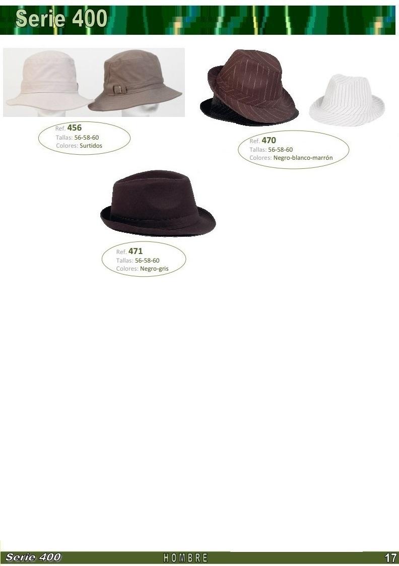 gorras y sombreros gorras baratas bufandas y guantes CATALOGO PRIMAVERA VERANO SERIE 400 GORRAS JOVENES