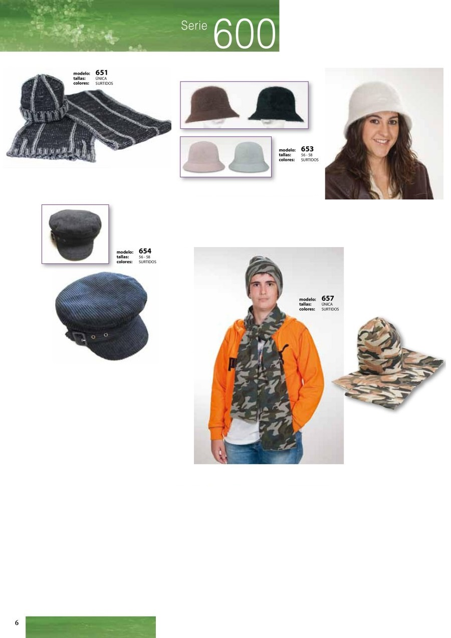 gorras y sombreros gorras baratas bufandas y guantes CATALOGO INVIERNO -page-006