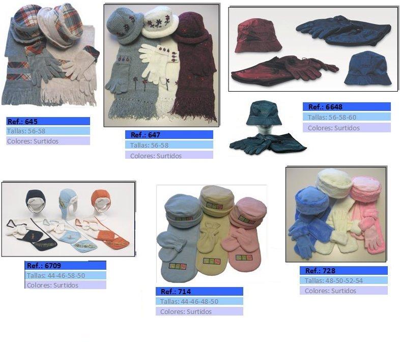 bolsos bufandas y guantes