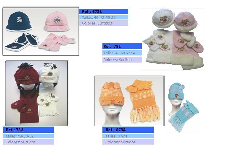 gorros bufandas y guantes niño