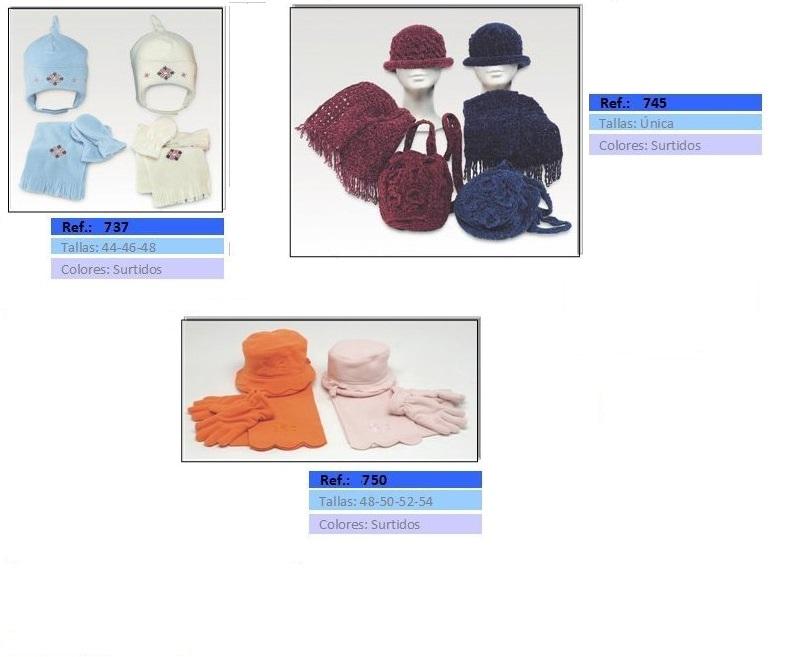 gorros guantes y bufandas niña